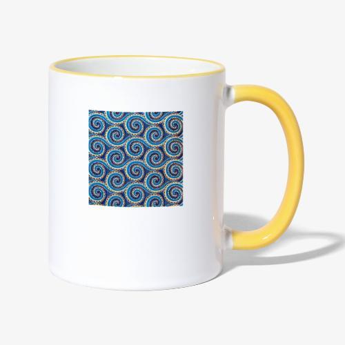 Spirales au motif bleu - Mug contrasté