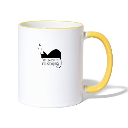 Sleeping cat black - Contrasting Mug