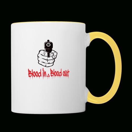 blood in blood out - Tasse zweifarbig