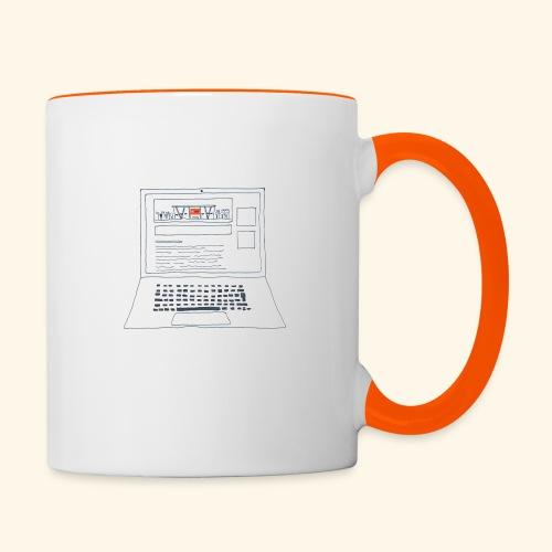 Laptop 20CENT Retail - Mug contrasté