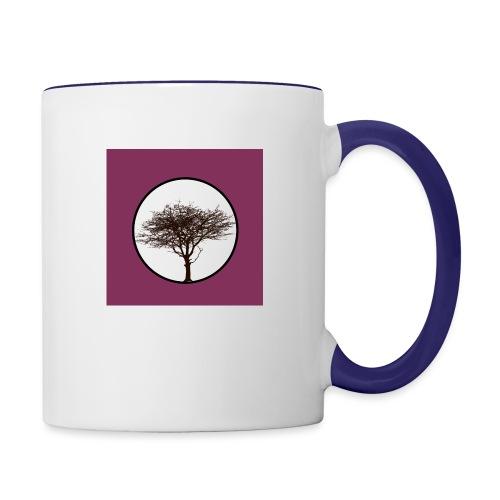 Baum in Kreis - Tasse zweifarbig