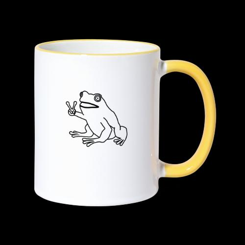 Funny Animal Frog Frosch - Tasse zweifarbig