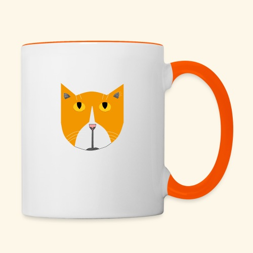 Hieno kissa - Kaksivärinen muki