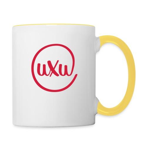 UXU logo round - Contrasting Mug