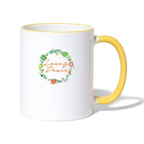 Love and Peace - Contrasting Mug