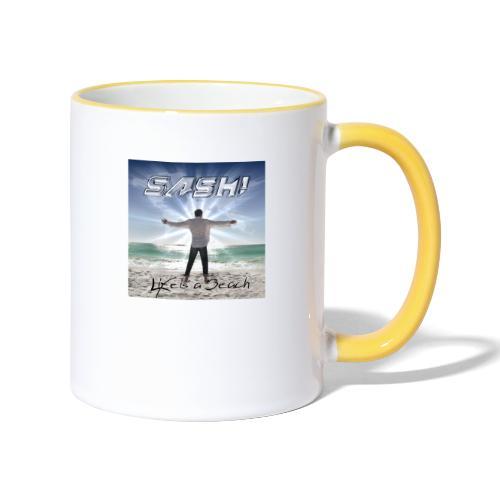 Life Is A Beach Cover - Contrasting Mug