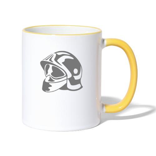 casque_pompier - Mug contrasté