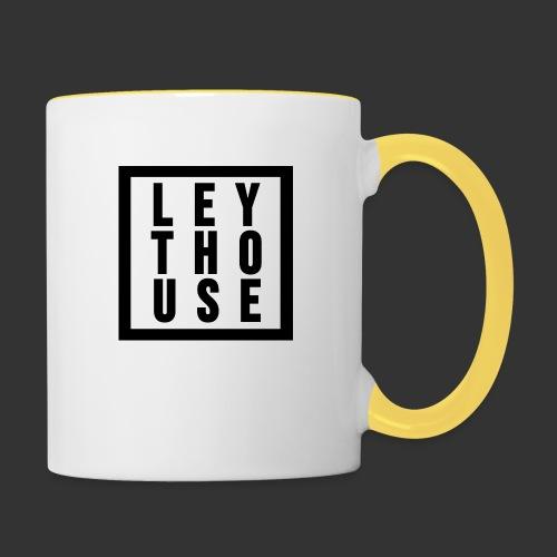 LEYTHOUSE Square black - Contrasting Mug
