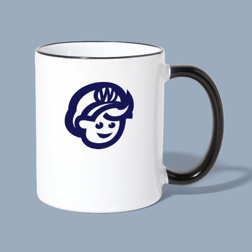 logo bb spreadshirt bb kopfonly - Contrasting Mug