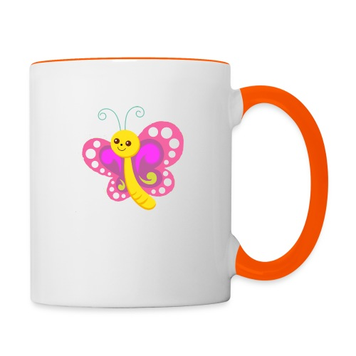 butterfly - Tasse zweifarbig