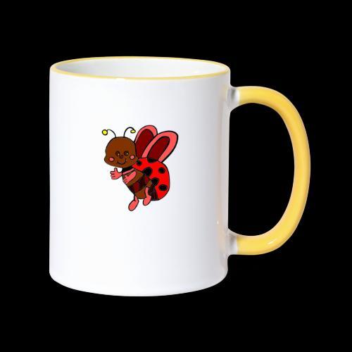 marienkaefer bunt - Tasse zweifarbig