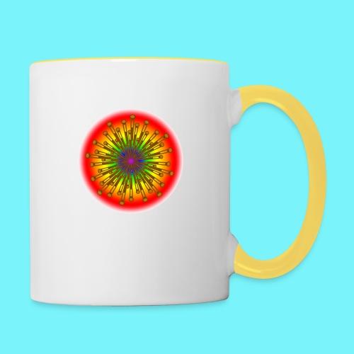 Rainbow explosion behind Fibonacci - Contrasting Mug