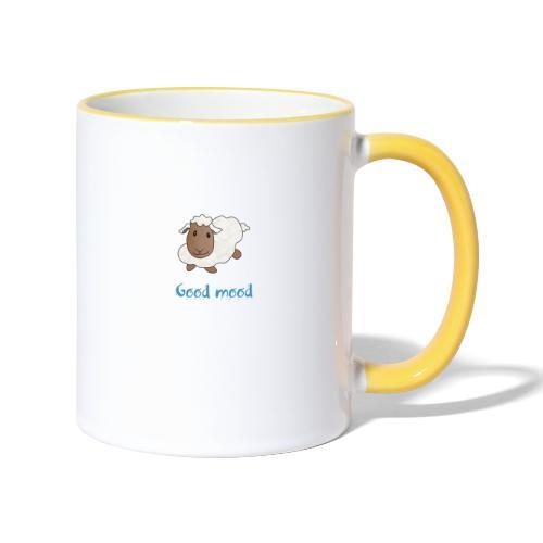 Nadège le petit mouton blanc - Mug contrasté