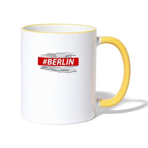 Hashtag Berlin - Tasse zweifarbig