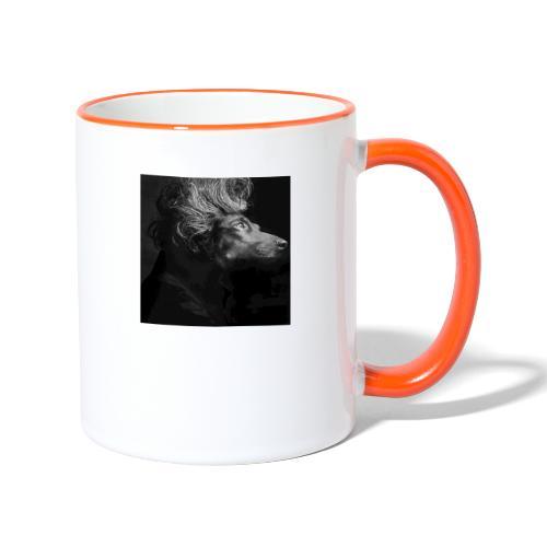 Mozartdackel - Tasse zweifarbig