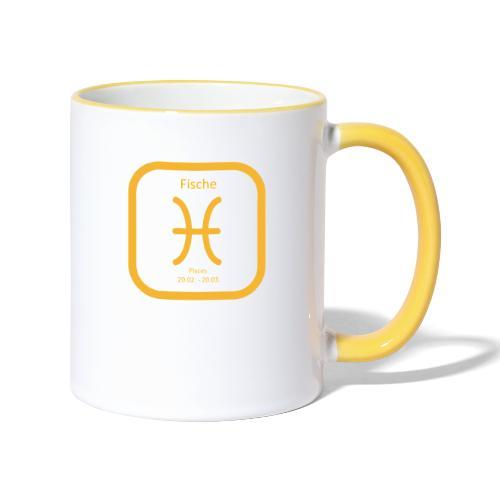 Horoskop Fische12 - Tasse zweifarbig