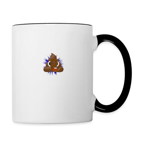 p0op Logo - Tofarvet krus