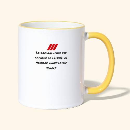 caporal chef - Mug contrasté