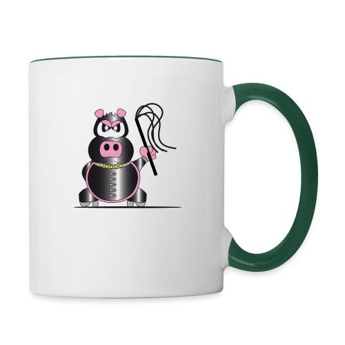 Schweinchen Sado - Tasse zweifarbig