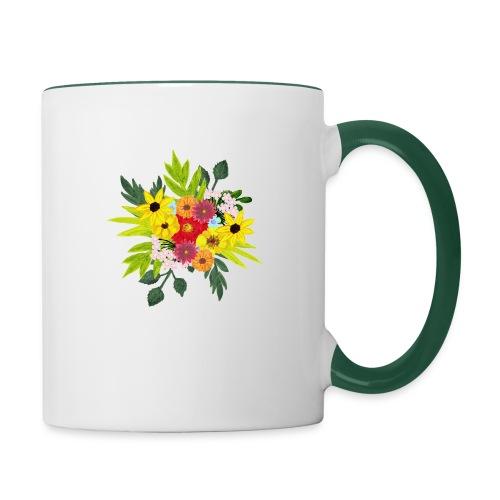 Flower_arragenment - Contrasting Mug