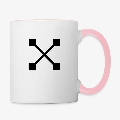 X BLK - Tasse zweifarbig