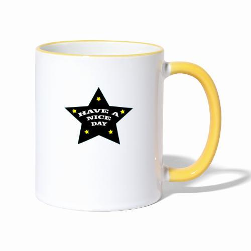 Have a nice Day stern - Tasse zweifarbig