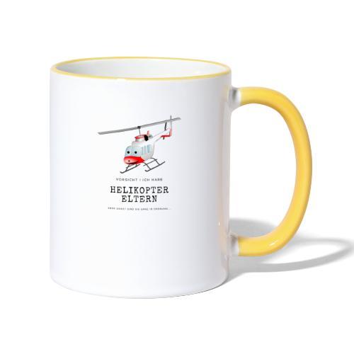 Helikoptereltern - Tasse zweifarbig