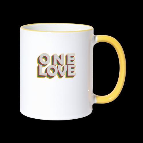 ONE LOVE - Tasse zweifarbig