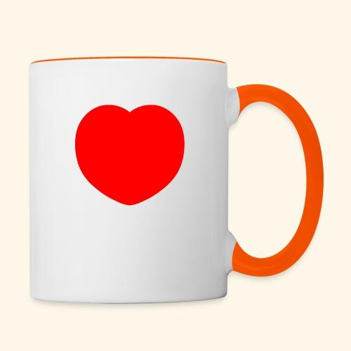 Heart - Tasse zweifarbig