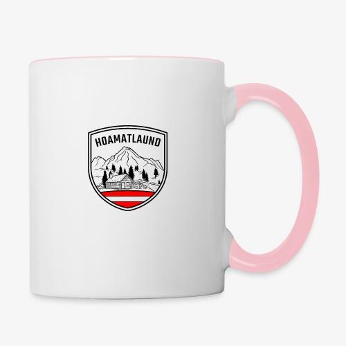 hoamatlaund österreich - Tasse zweifarbig