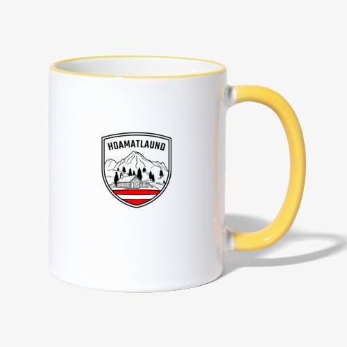 hoamatlaund logo - Tasse zweifarbig