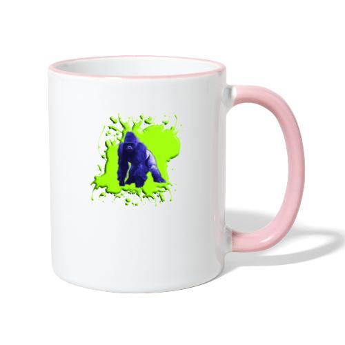 Blue Green Gorilla - Tasse zweifarbig