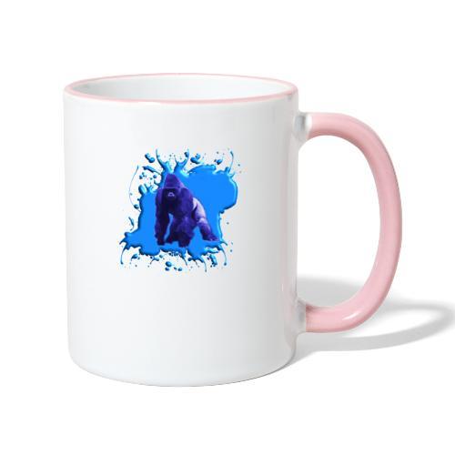 Blauer Gorilla - Tasse zweifarbig