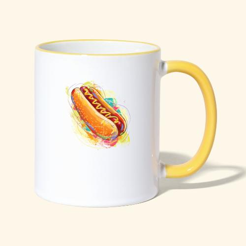 Hot Dog - Taza en dos colores