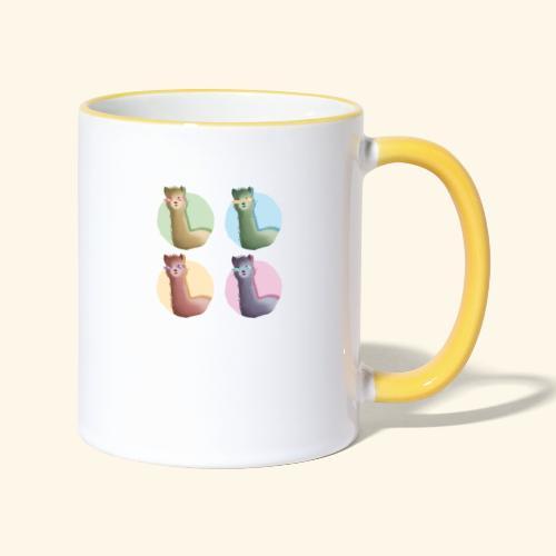 Alpakas - Tasse zweifarbig