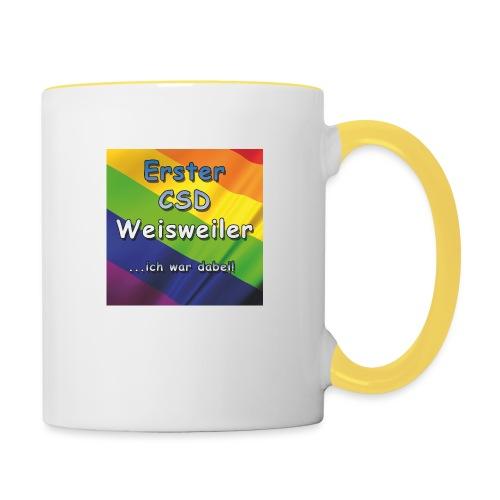 Erster CSD Weisweiler - Tasse zweifarbig
