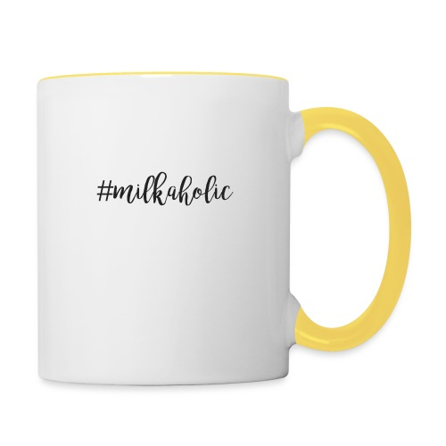 #milkaholic - Babybody - Tasse zweifarbig