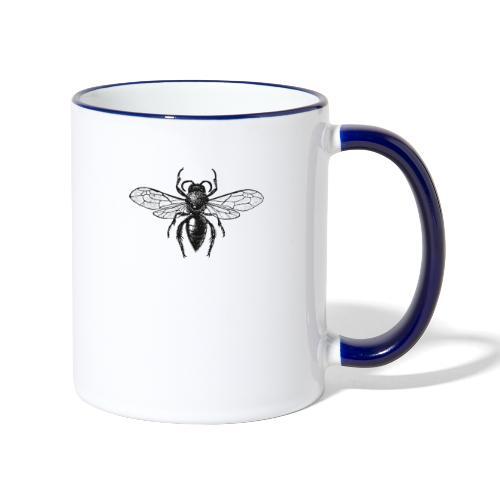 Mauerbiene - Tasse zweifarbig