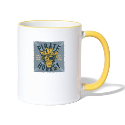 Pirate Monkey - Tasse zweifarbig