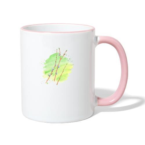Weidenkätzchen - Tasse zweifarbig