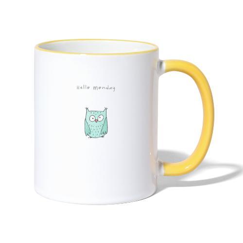 Hello Monday - Tasse zweifarbig