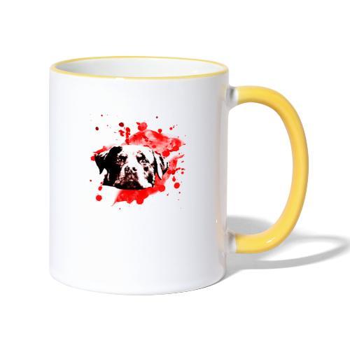Rottweiler Watercolor red - Tasse zweifarbig