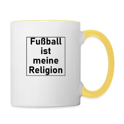 Fußball ist meine Religion V2 - Tasse zweifarbig