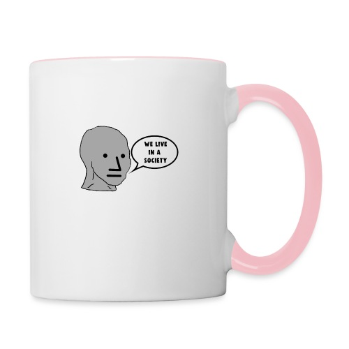 NPC We Live in a Society Meme - Contrasting Mug