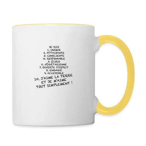 Je suis et je m'aime - Mug contrasté