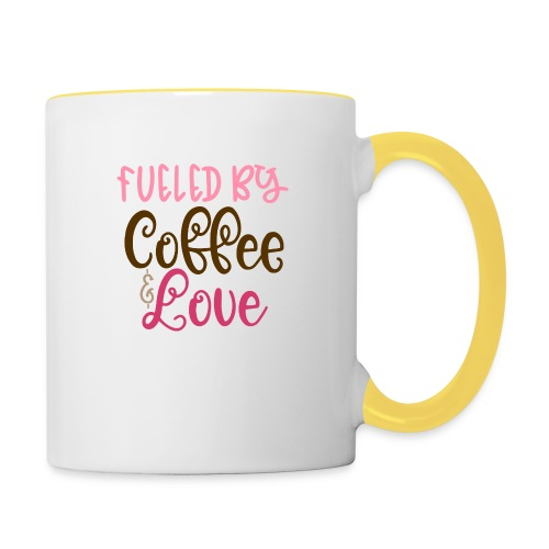 Tasse - Fueled by Coffee & Love - Tasse zweifarbig