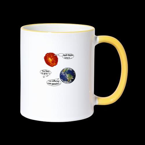 mg suffering planet - Tasse zweifarbig