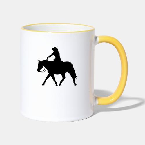 Ranch Riding extendet Trot - Tasse zweifarbig