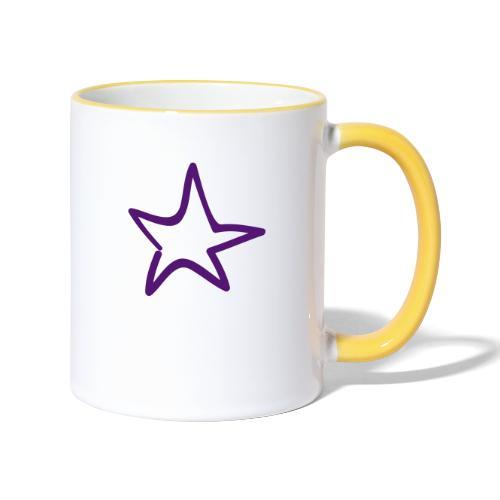 Star Outline Pixellamb - Tasse zweifarbig