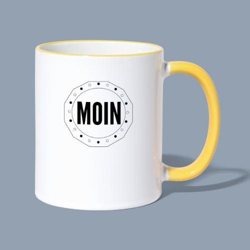 Moin - typisch emsländisch! - Tasse zweifarbig